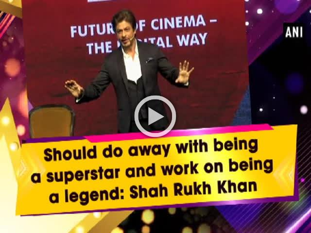Should do away with being a superstar and work on being a legend: Shah Rukh Khan