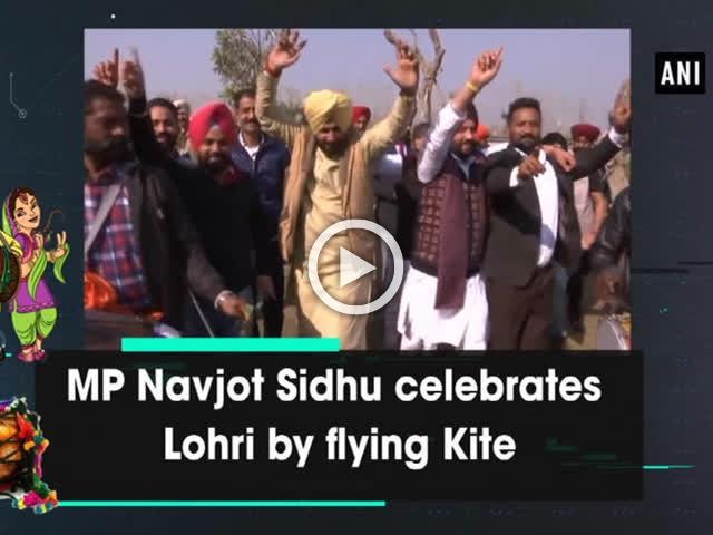 MP Navjot Sidhu celebrates Lohri by flying Kite
