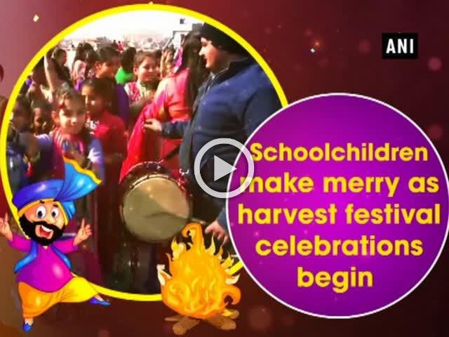 Schoolchildren make merry as harvest festival celebrations begin