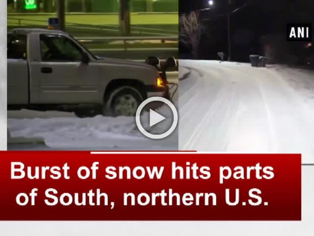 Burst of snow hits parts of South, northern U.S.