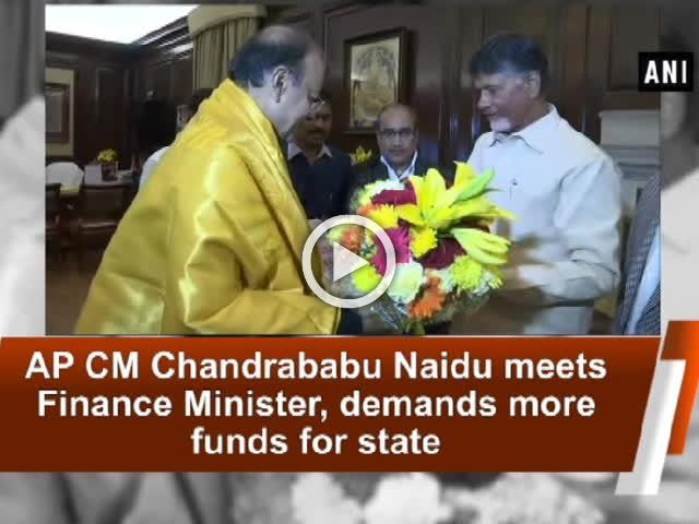 AP CM Chandrababu Naidu meets Finance Minister, demands more funds for state