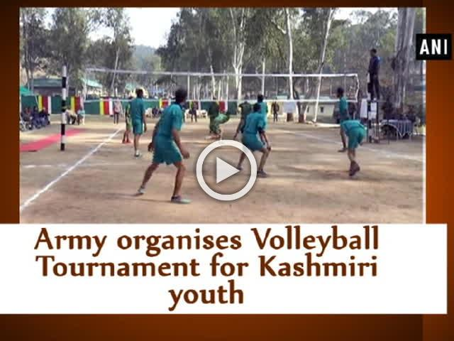 Army organises Volleyball Tournament for Kashmiri youth