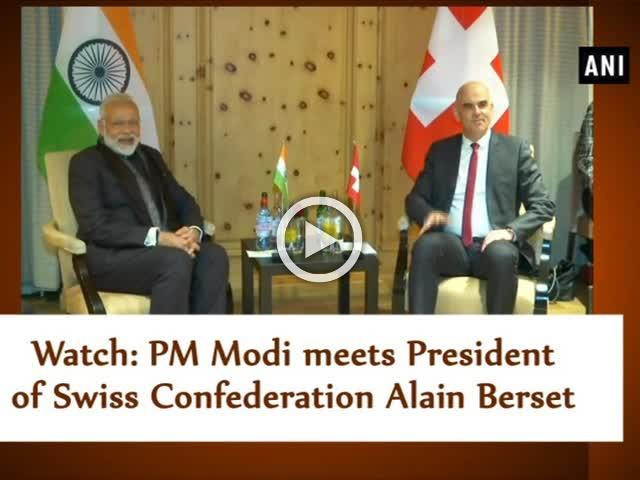 Watch: PM Modi meets President of Swiss Confederation Alain Berset