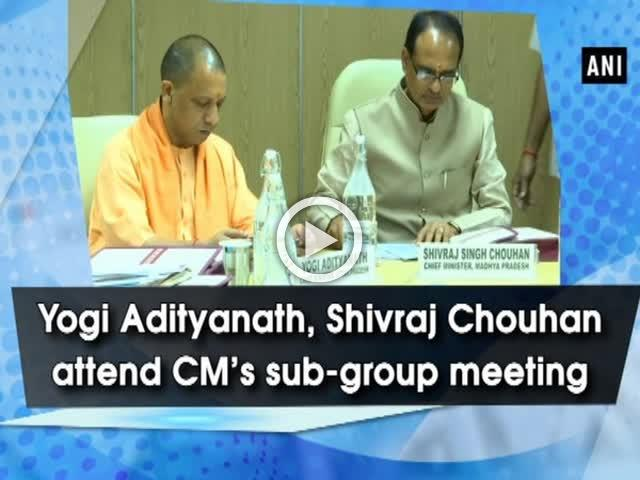 Yogi Adityanath, Shivraj Chouhan attend CM's sub-group meeting