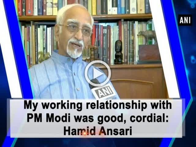 My working relationship with PM Modi was good, cordial: Hamid Ansari