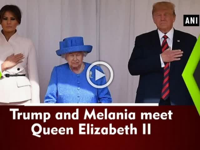 Trump and Melania meet Queen Elizabeth II