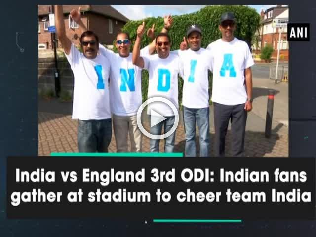 India vs England 3rd ODI: Indian fans gather at stadium to cheer team India