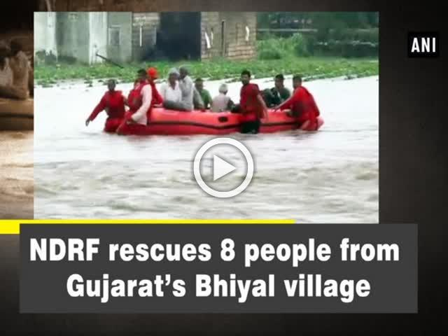 NDRF rescues 8 people from Gujarat's Bhiyal village