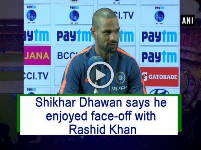 Shikhar Dhawan says he enjoyed face-off with Rashid Khan