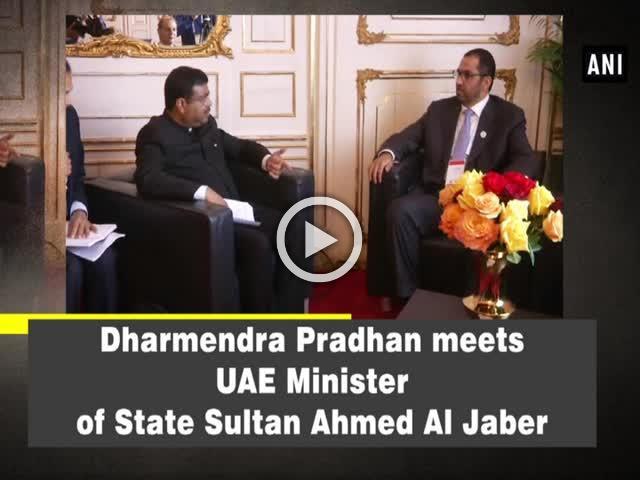 Dharmendra Pradhan meets UAE Minister of State Sultan Ahmed Al Jaber
