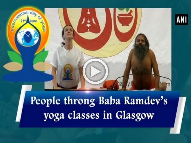 People Throng Baba Ramdevs Yoga Classes In Glasgow