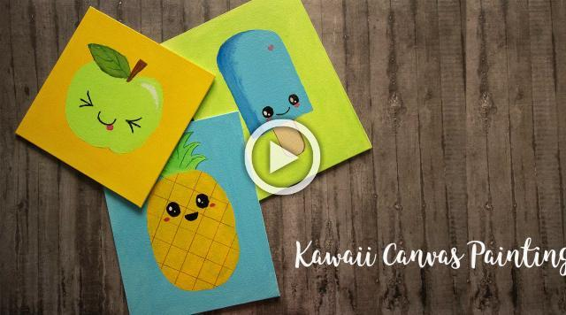 Kawaii Canvas Painting
