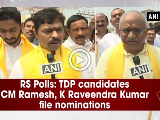 RS Polls: TDP candidates CM Ramesh, K Raveendra Kumar file nominations