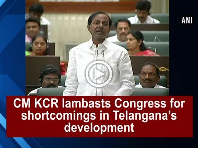 CM KCR lambasts Congress for shortcomings in Telangana's development