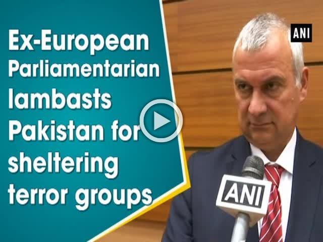 Ex-European Parliamentarian lambasts Pakistan for sheltering terror groups