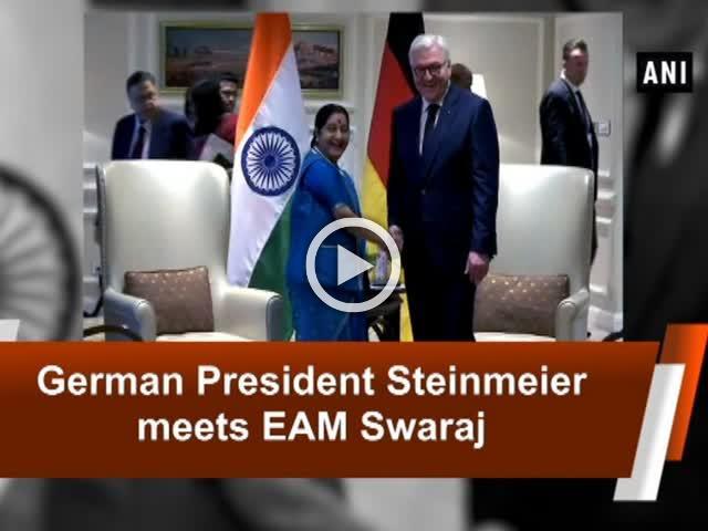 German President Steinmeier meets EAM Swaraj