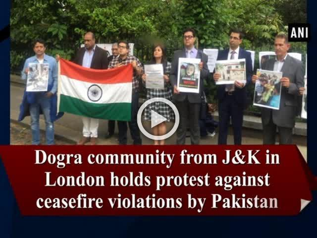 Dogra community from J&K in London holds protest against ceasefire violations by Pakistan