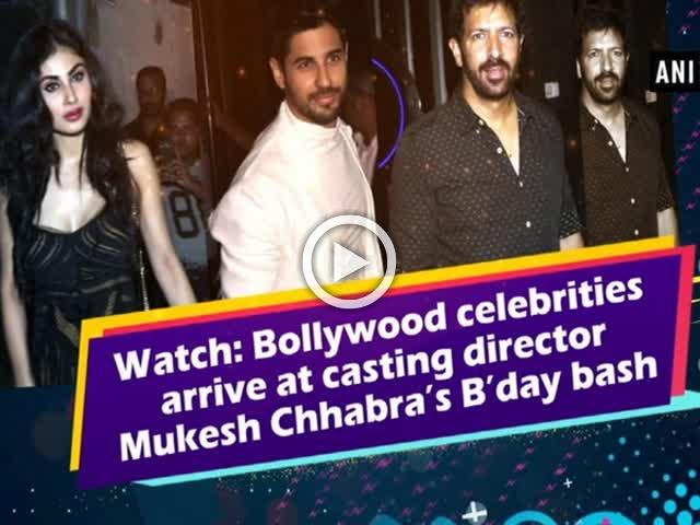 Watch: Bollywood celebrities arrives at casting director Mukesh Chhabra's B'day bash