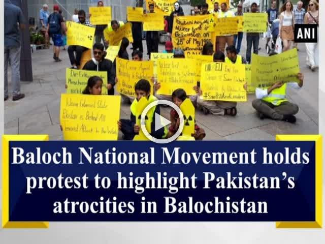 Baloch National Movement holds protest to highlight Pakistan's atrocities in Balochistan