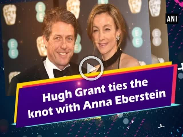 Hugh Grant ties the knot with Anna Eberstein