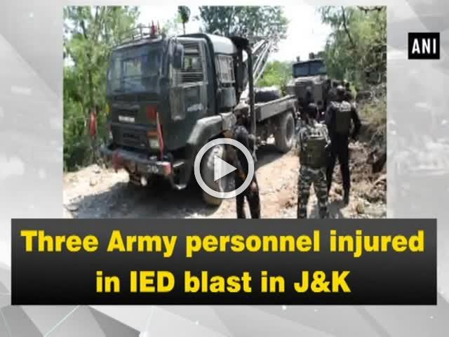 Three Army personnel injured in IED blast in J&K