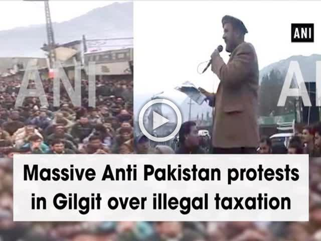 Massive Anti Pakistan protests in Gilgit over illegal taxation
