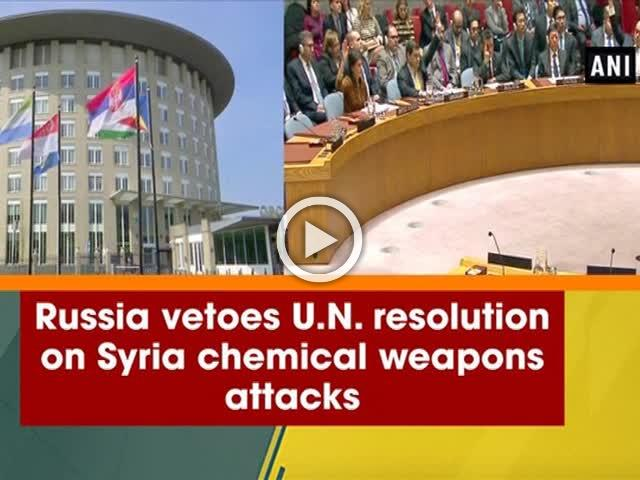 Russia vetoes U.N. resolution on Syria chemical weapons attacks