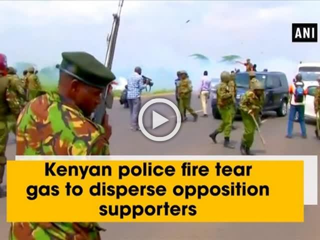 Kenyan police fire tear gas to disperse opposition supporters