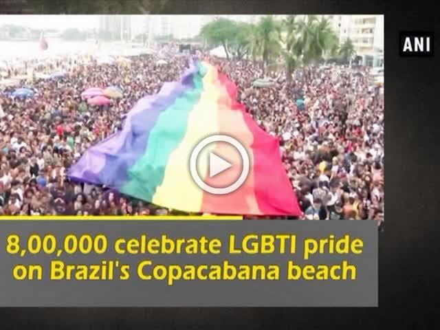 8,00,000 celebrate LGBTI pride on Brazil's Copacabana beach