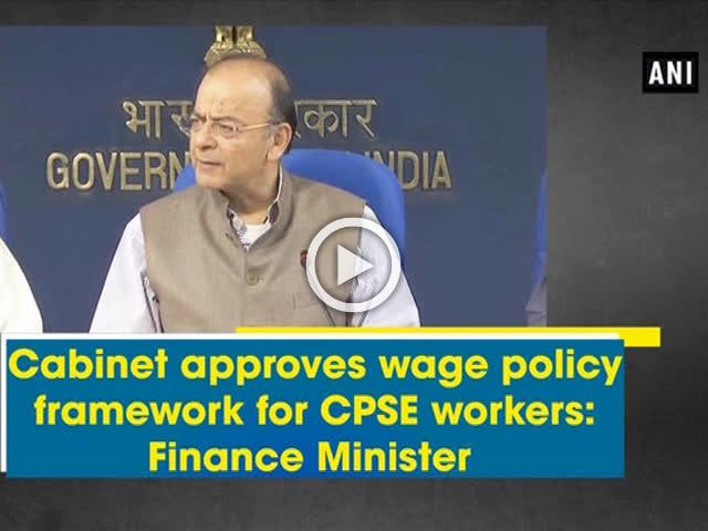 Cabinet approves wage policy framework for CPSE workers: Finance Minister