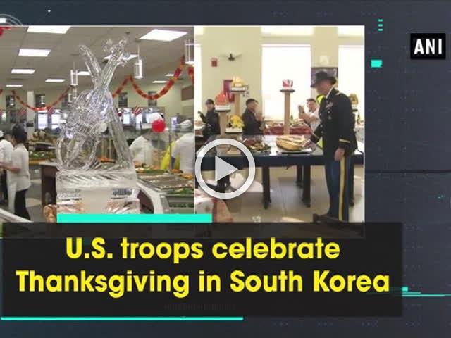 U.S. troops celebrate Thanksgiving in South Korea