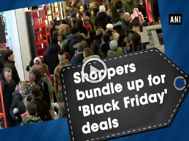 Shoppers bundle up for 'Black Friday' deals