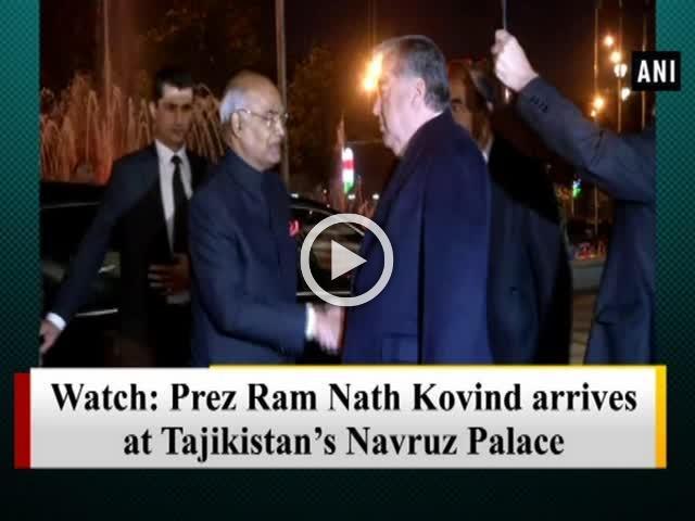 Watch: Prez Ram Nath Kovind arrives at Tajikistan's Navruz Palace