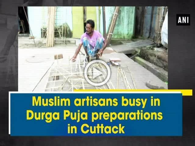 Muslim artisans busy in Durga Puja preparations in Cuttack