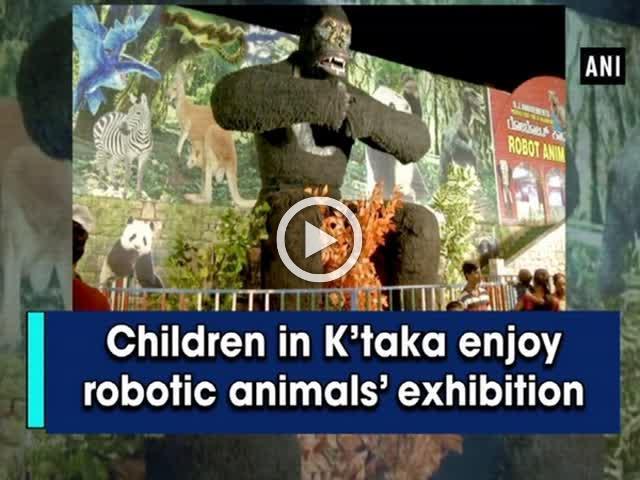 Children in K'taka enjoy robotic animals' exhibition