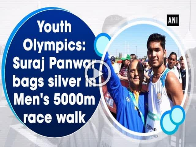 Youth Olympics: Suraj Panwar bags silver in Men's 5000m race walk