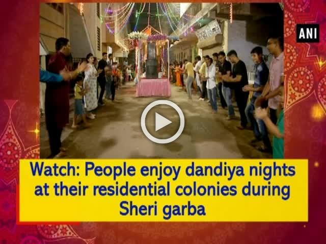 Watch: People enjoy dandiya nights at their residential colonies during Sheri garba