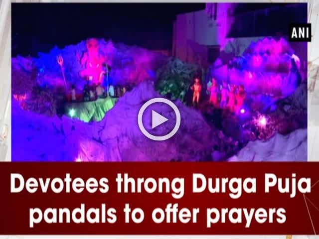 Devotees throng Durga Puja pandals to offer prayers