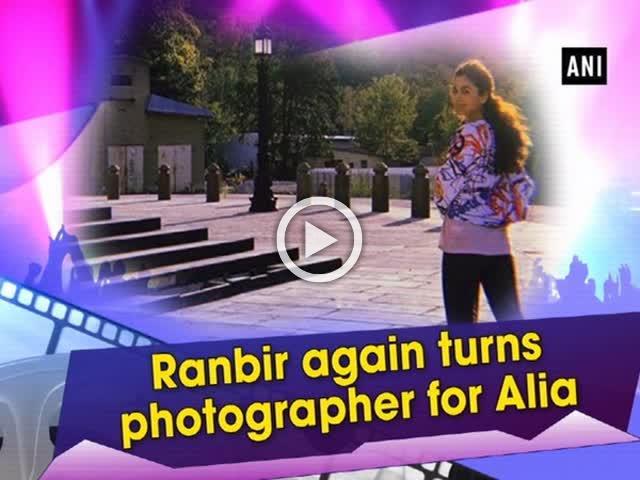 Ranbir again turns photographer for Alia