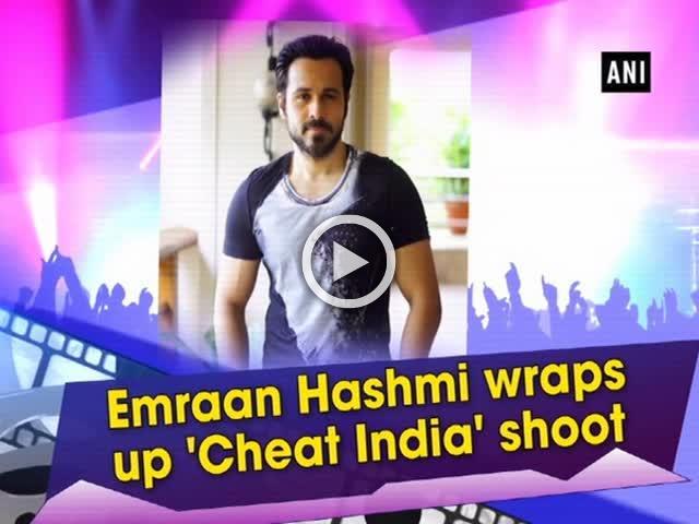 Emraan Hashmi wraps up 'Cheat India' shoot