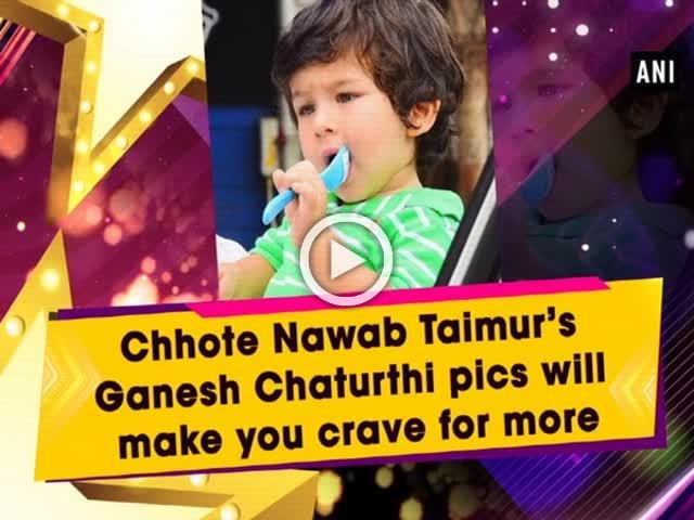 Chhote Nawab Taimur's Ganesh Chaturthi pics will make you crave for more