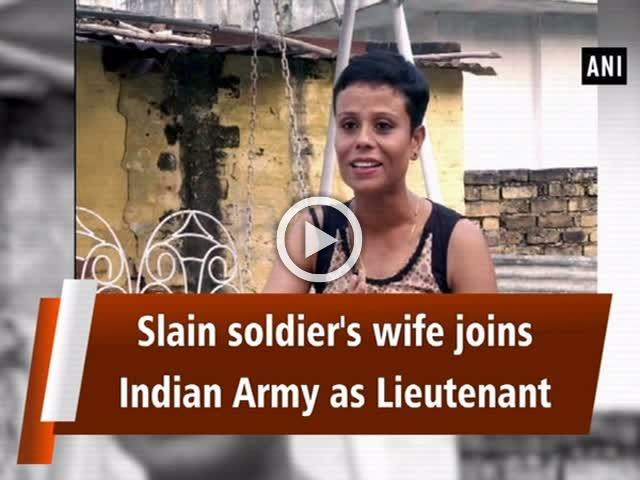 Slain soldier's wife joins Indian Army as Lieutenant