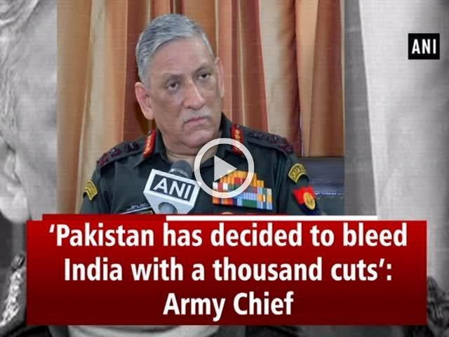 'Pakistan has decided to bleed India with a thousand cuts': Army Chief