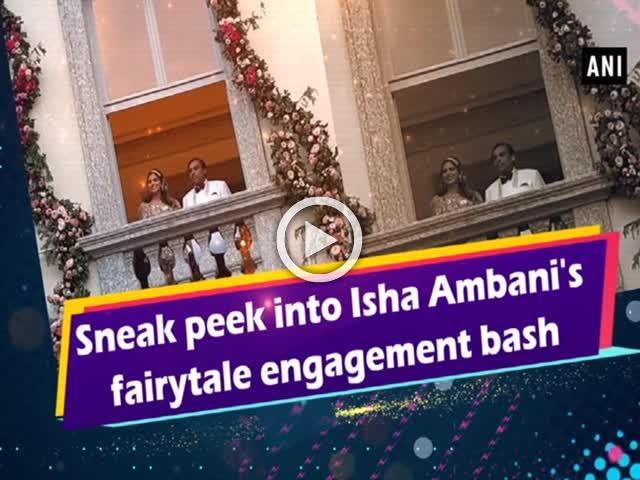 Sneak peek into Isha Ambani's fairytale engagement bash