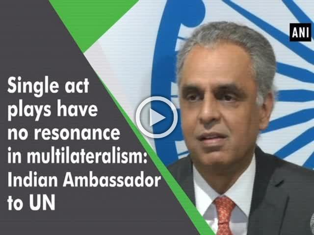 Single act plays have no resonance in multilateralism: Indian Ambassador to UN