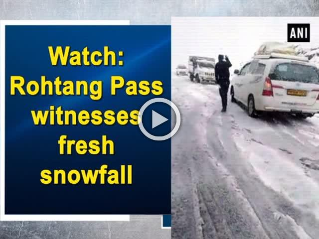 Watch: Rohtang Pass witnesses fresh snowfall