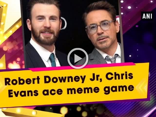 Robert Downey Jr, Chris Evans ace meme game