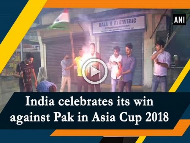 India celebrates its win against Pak in Asia Cup 2018