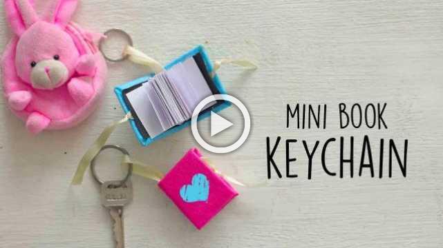 Mini Book Keychain