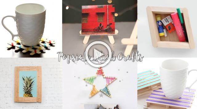 6 DIY Popsicle Stick Craft Compilation | Craft Ideas | Home Decor